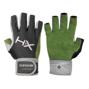 Harbinger HumanX X3 Competition Mens Gym Training 3/4 Finger Gloves With WristWrap