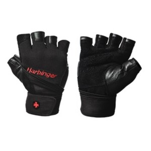 Harbinger Pro Mens Gym Training WristWrap Gloves