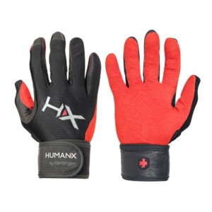 Harbinger HumanX X3 Competition Mens Gym Training Full Finger WristWrap Gloves
